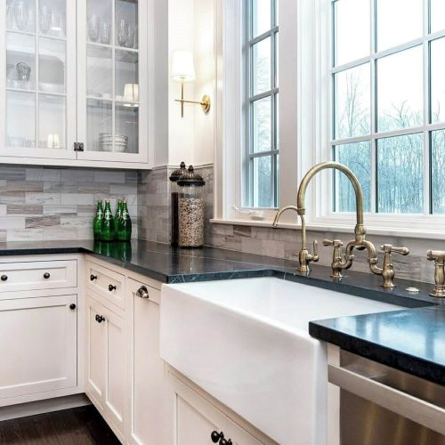 copper gold faucet white sink