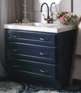 Blu Vanity White Counter